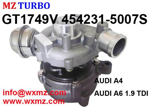 MZ Turbocharger Discount GT1749V 454231-5007S for AUDI A4