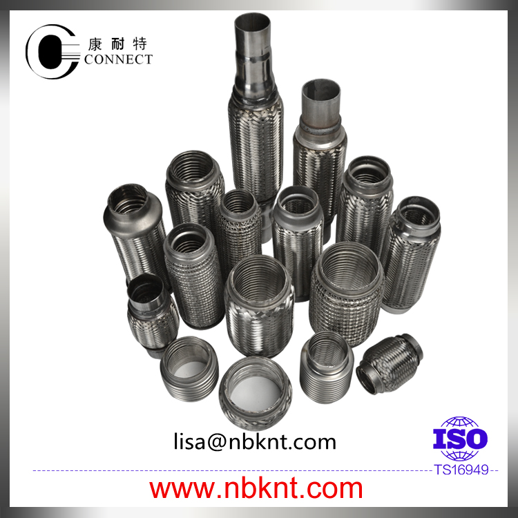 Auto stainless steel muffler joint pipe with interlock