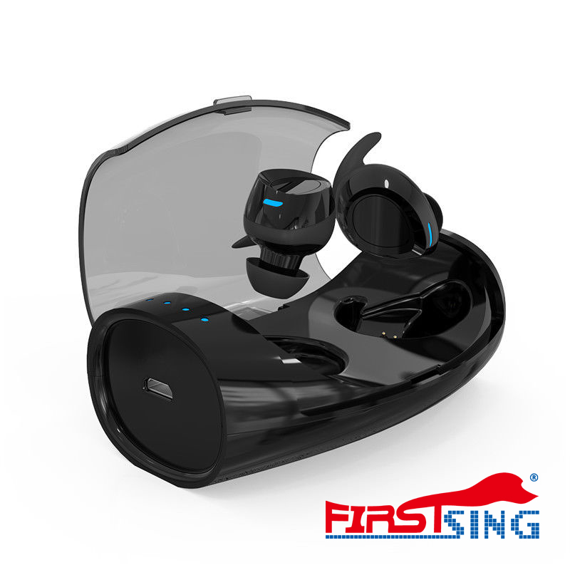 Firstsing TWS Headphones Wireless Bluetooth Double Earphones Sport Handfree With Charge Box for IOS
