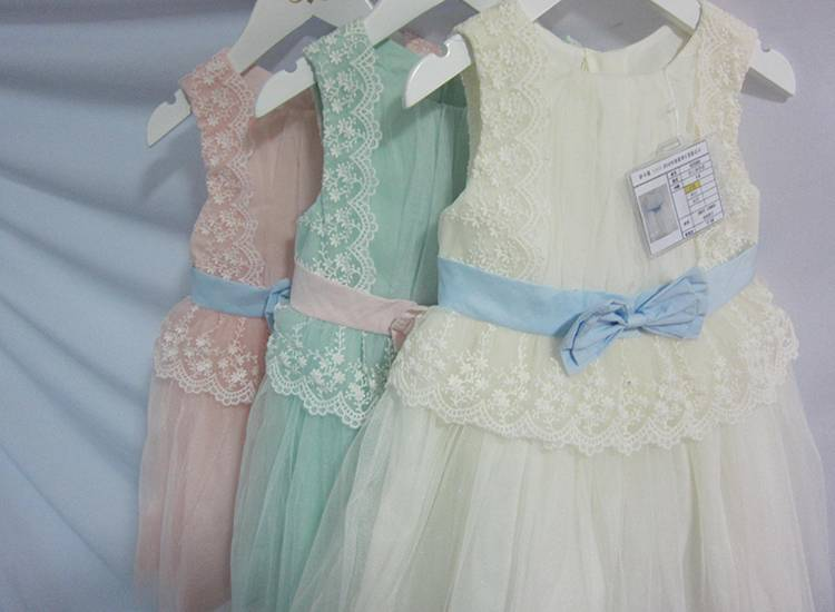 Girls Formal Wear Lace Fancy Kids Clothes Girls Party Dresses