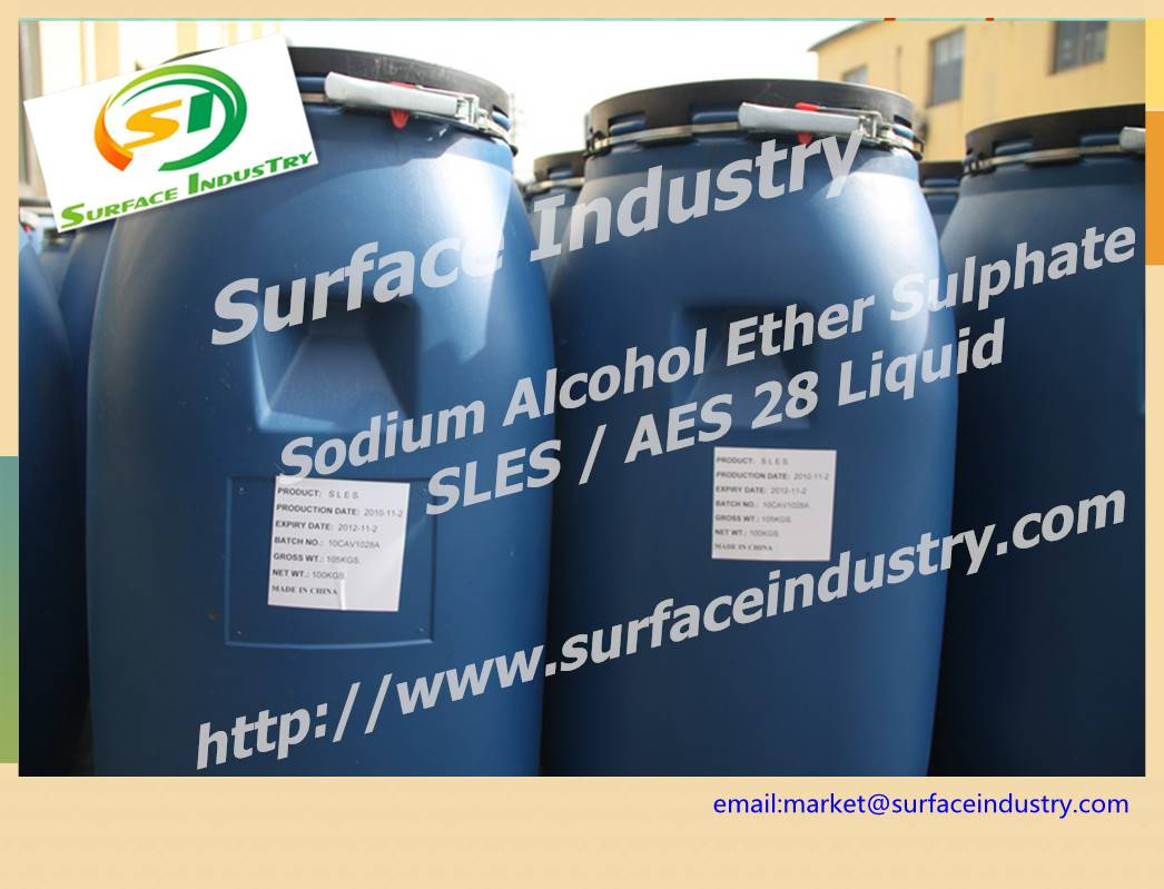 Surfactant Sodium Laureth Sulphate,SLES 70 and 28