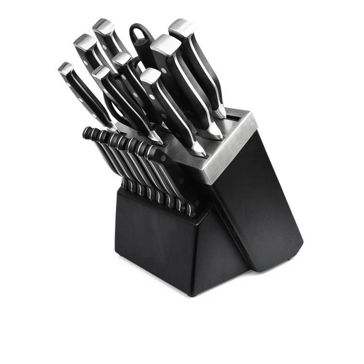 Best selling 19pcs stainless steel kitchen knife set with forged handle