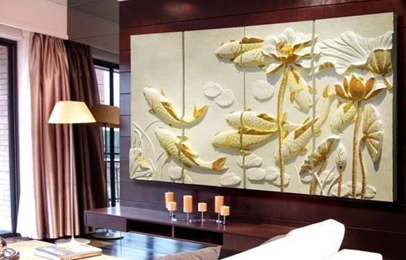 polyurethane (PU) 3d Carved wall panels moulding