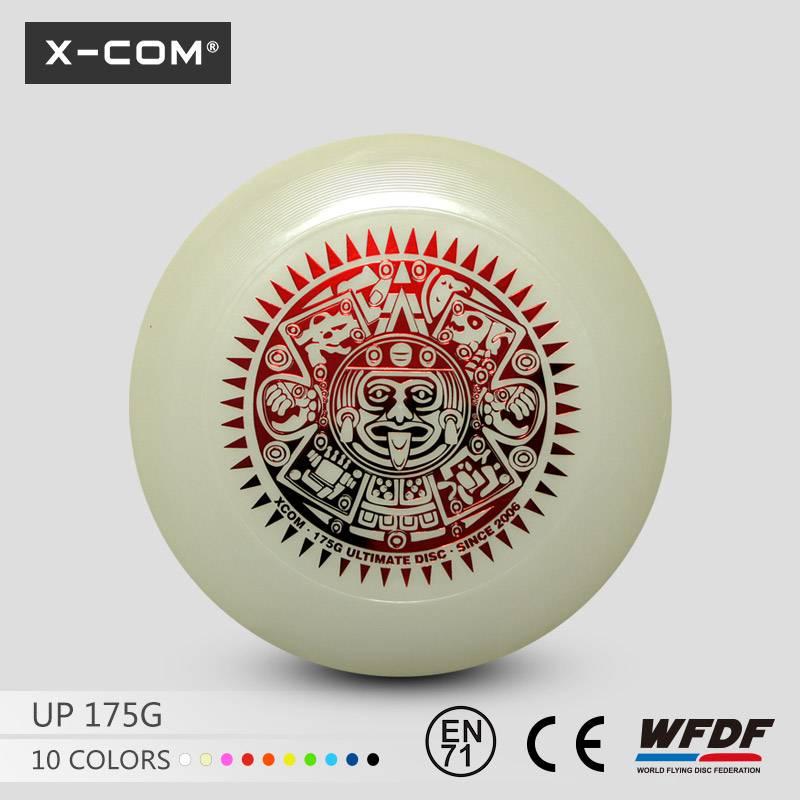 X-COM Standard 175g Ultimate Flying Disc Glow in the dark Frisbee Disc