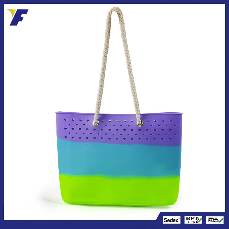 2016 new arrival silicone shopping tote bag lady handbag