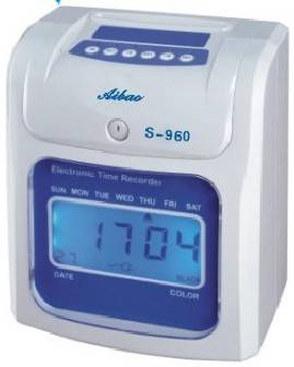 Electronic  time card  clock S-960