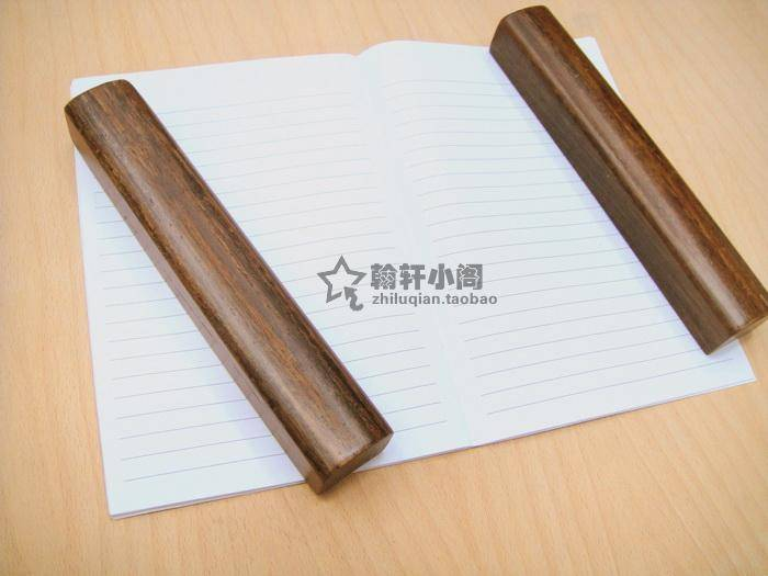 Red sandalwood smooth polished rosewood mahogany  bronze paperweight calligraphy supplies CP005