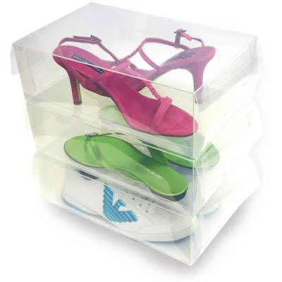 Transparent plastic shoes box#4
