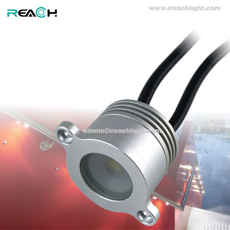 led rail pipe light, China manufacturer, recessed mounted, IP67 waterproof, 1W,DC12V, aluminum body
