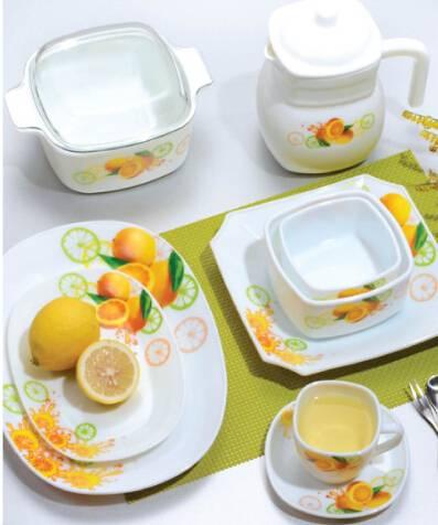58pcs dinnerware set Opal Glass Microwave Safe