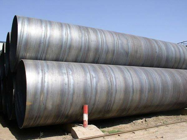 Spiral steel pipe for fluids