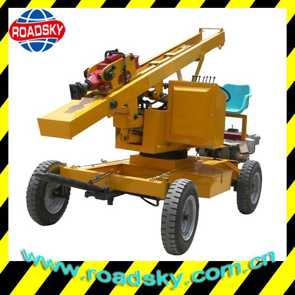 Traffic Safety Guard Rail Installation Machine