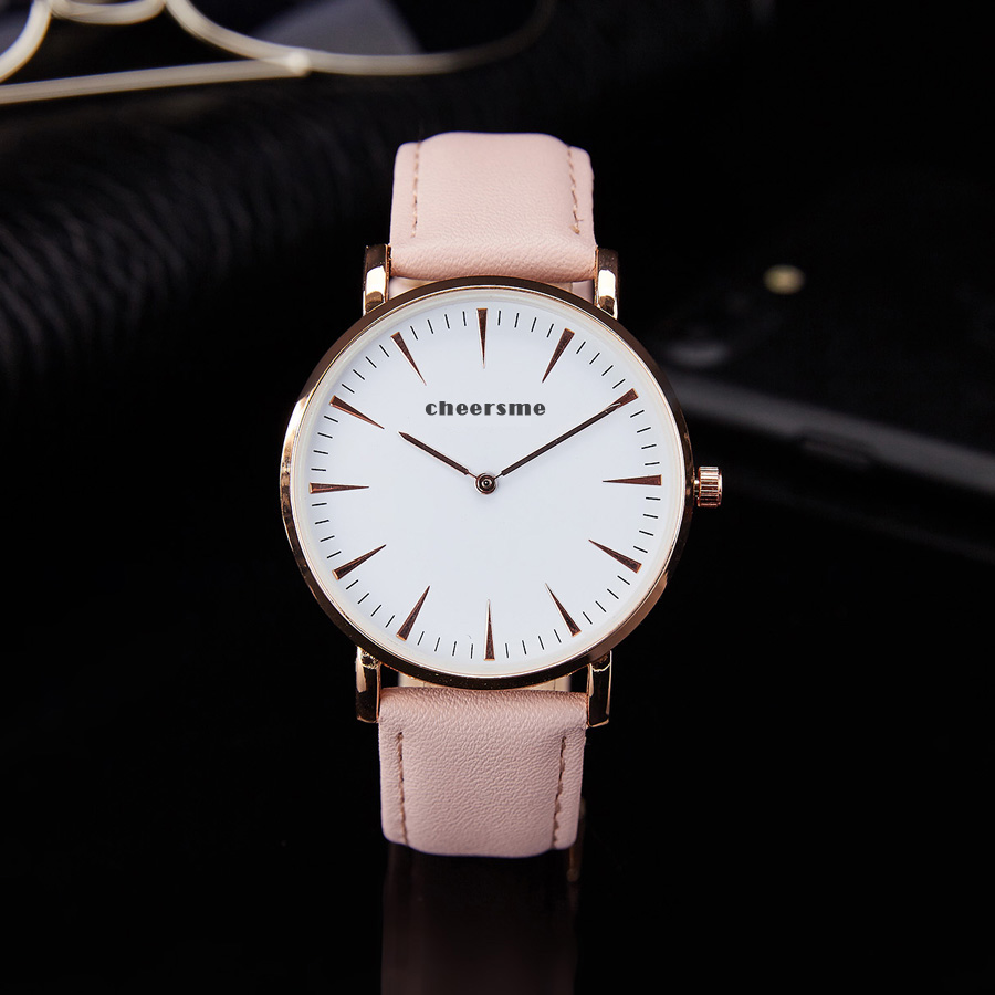 Newst fashion Cluse style quartz watches mens brief leather business watches