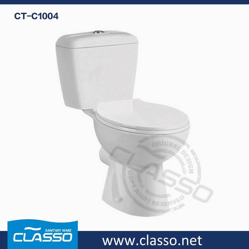 Hot Sale Bathroom Ceramic Sanitary Ware washdown toilet new design 4-inch CLASSO two piece closet CT