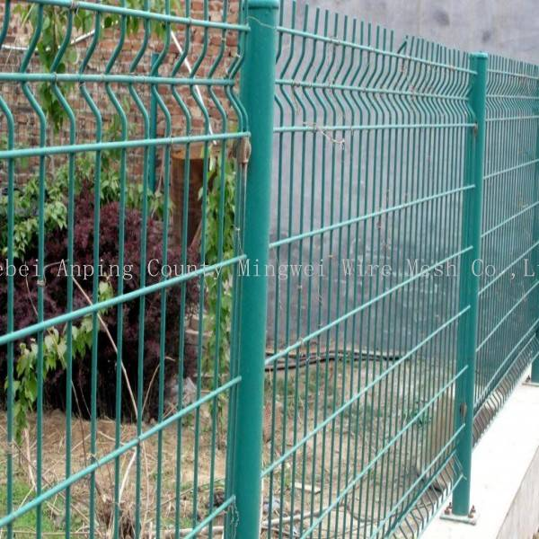 Professional curvy welded wire mesh fence , welded mesh fence for sale