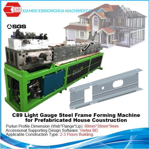 Light gauge steel frame C89 roll forming machine for prefabricated building