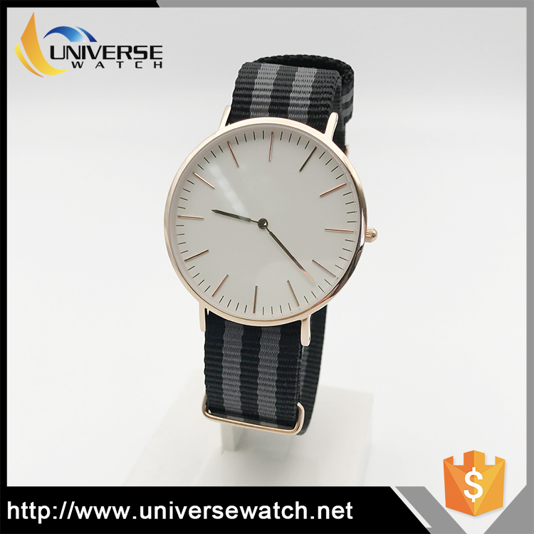 Good quality unisex ultra slim stainless steel custom logo watch