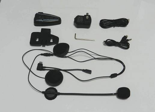 D1 Bluetooth helmet headset intercom 100 meters