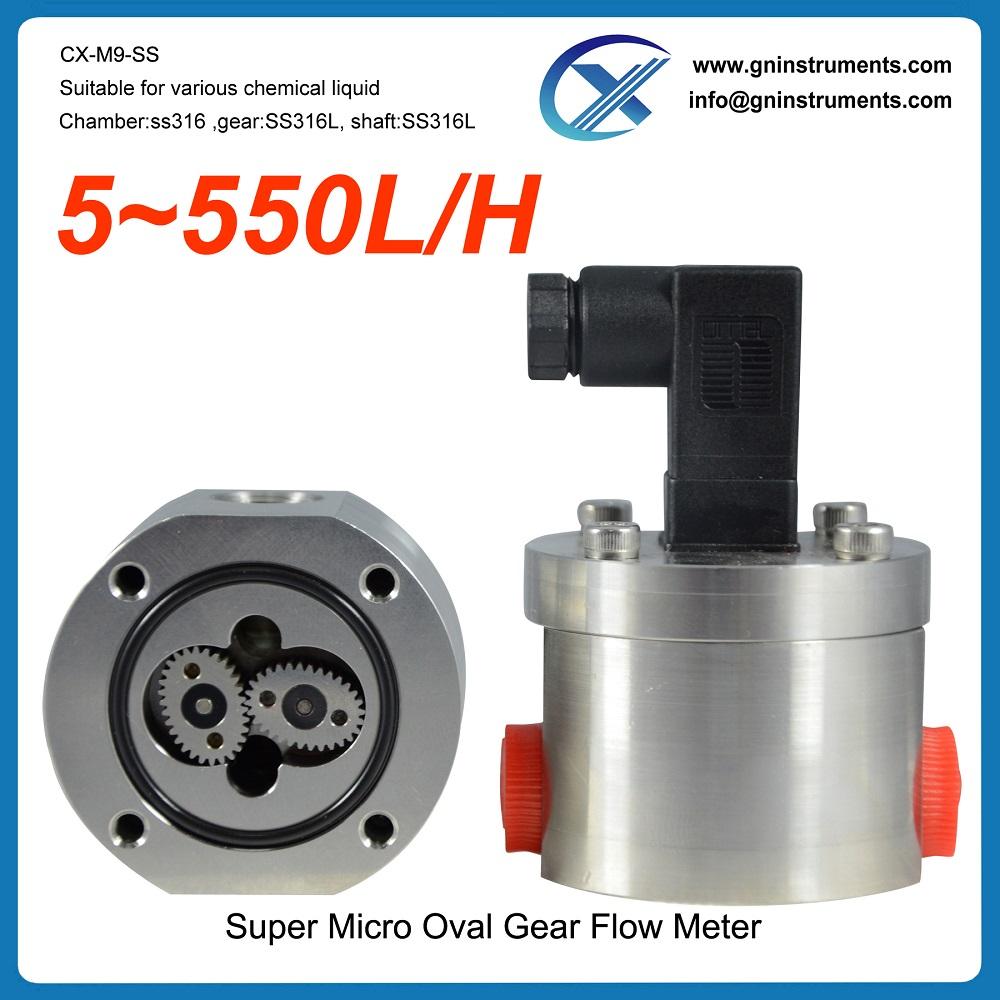 0.2% accuracy glue mini low micro flow meter