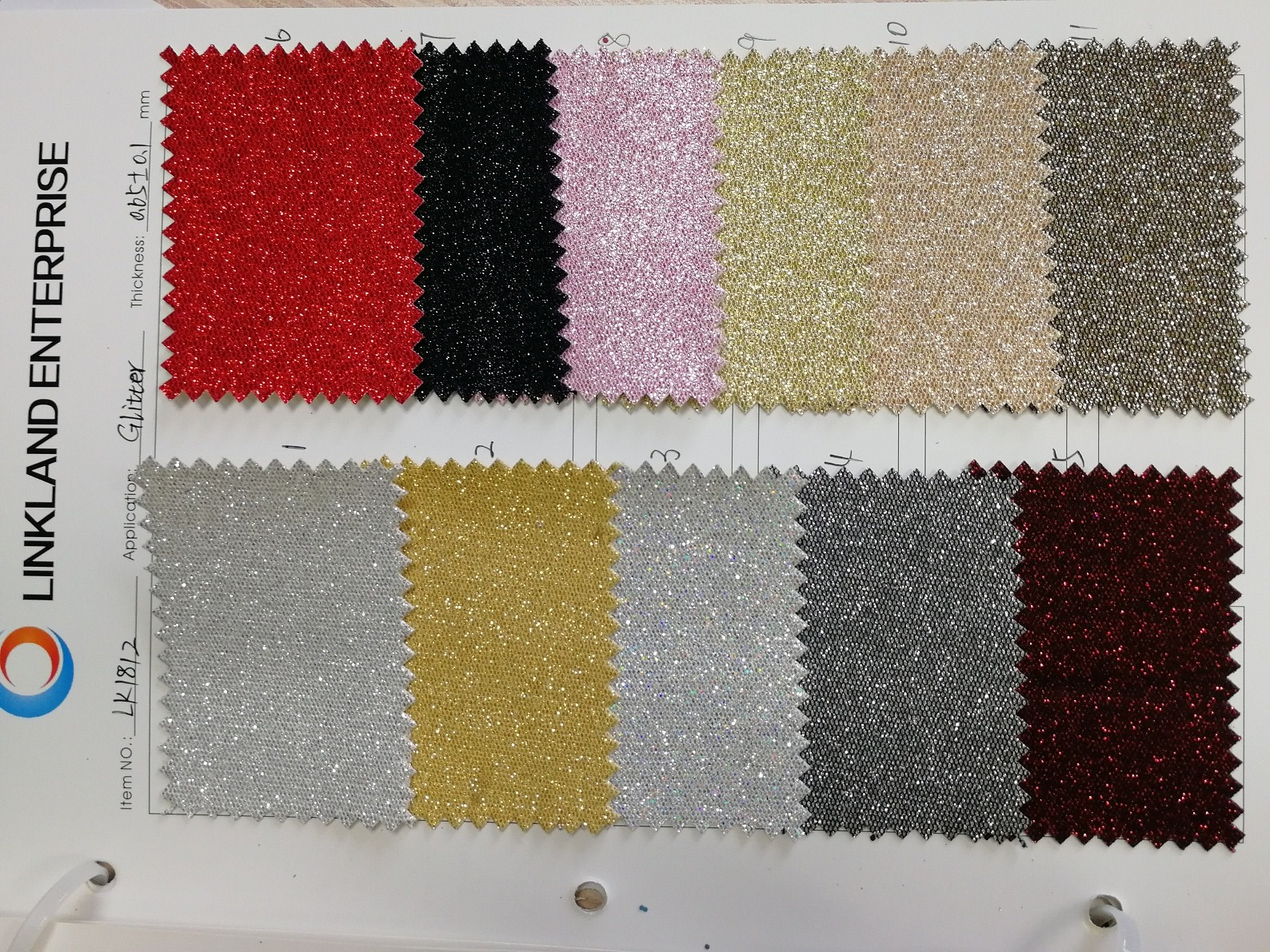 Mesh Fabric Glitter PU Leather for Shoes