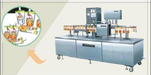 Model ZGJ-4 Vertical Automatic Filling Capping and Sealing Machine
