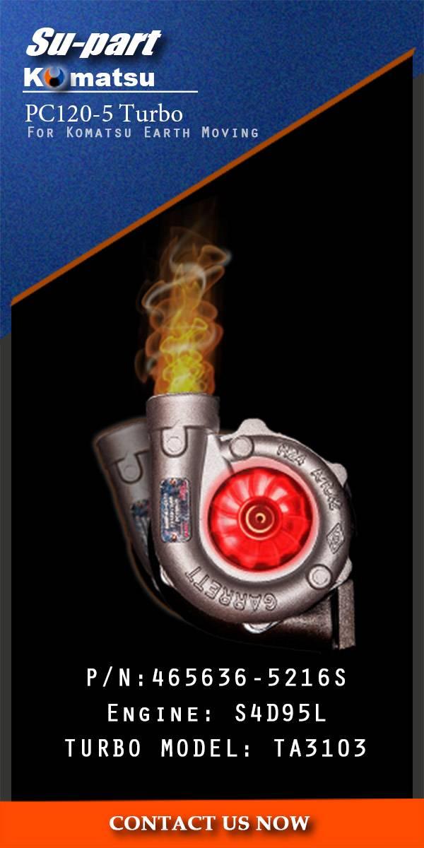 Komatsu PC120-5 465636-0206 Turbocharger