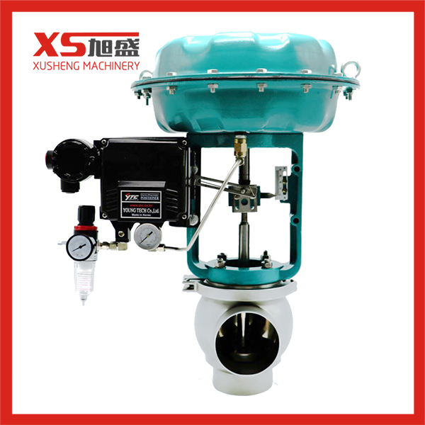Hygienic Sanitary Pressure Relief Weld End Control Adjust Valve with Metal Actuator