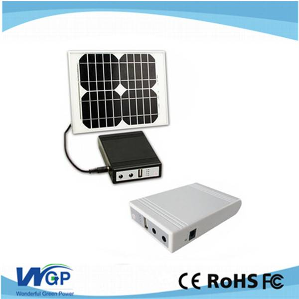 Hot selling portable home solar system with 18650 lithium-ion battery 10 watt solar panel