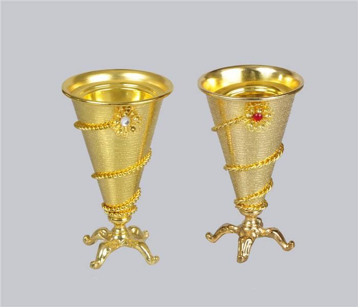 metal gold plated incense burner