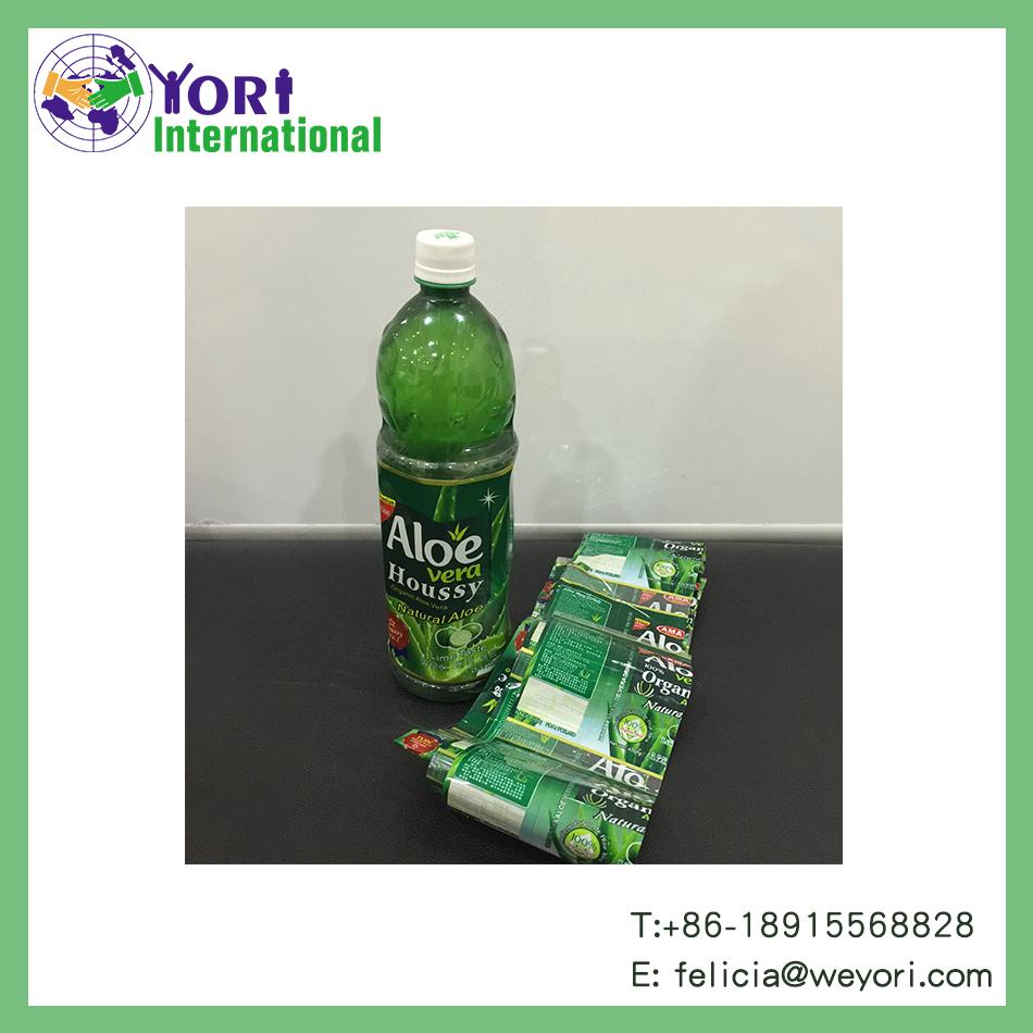 Yori shrink film heat shrink printing label for beverage bottle