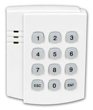 Tamperproof wireless keypad for burglar alarm system