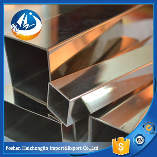 180 grit polish 201 stainless steel square pipe tubes