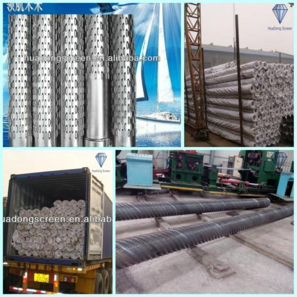 HUADONG sand filter screen/wedge v wire well screen for refiner