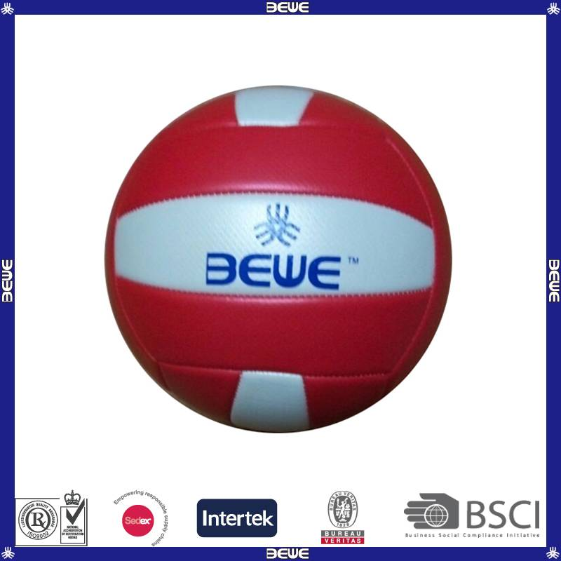 Brand pu material red volleyball