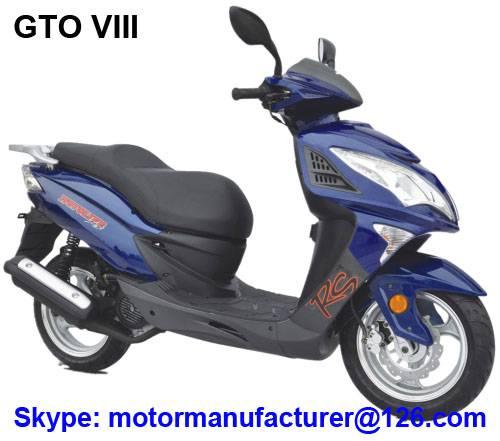 GTO VIII Scooter JNEN Motor Popular Design 2016 Model Gasoline Scooter 50CC/150CC CDI/EFI EEC/EPA