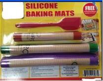 Silicone fiberglass baking mat set