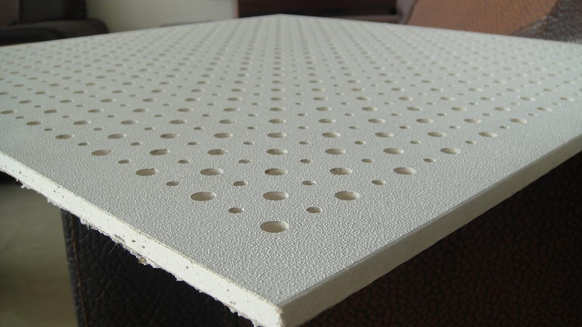 gypsum perforated tile