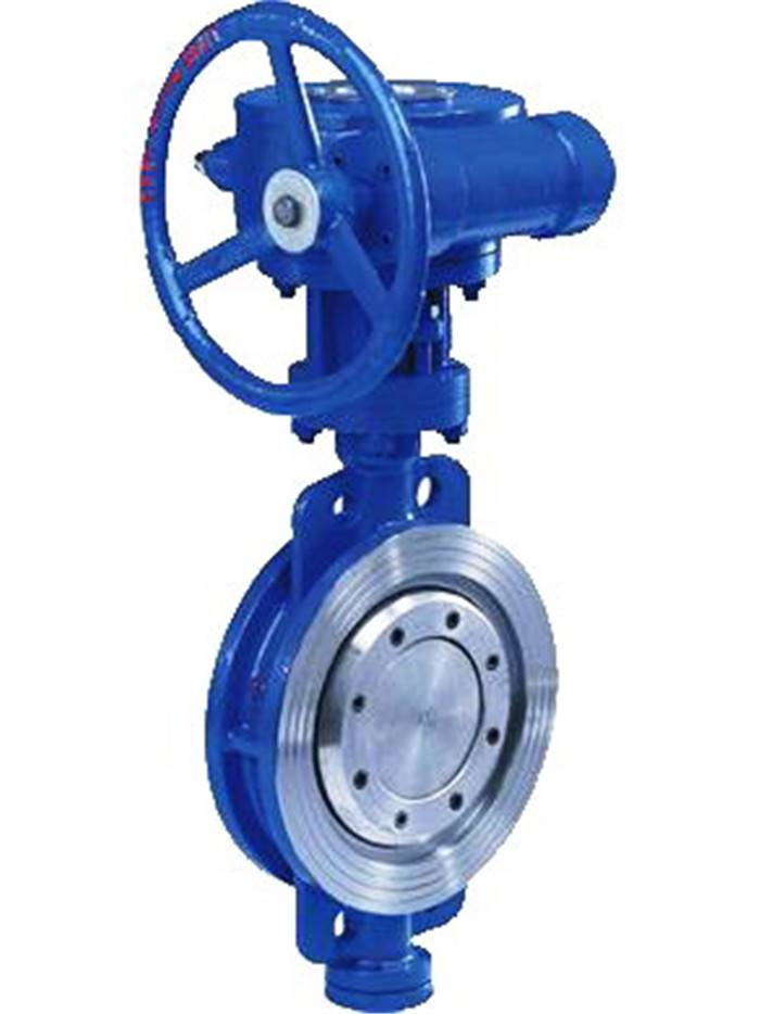 Wafer type eccentric hard seated butterfly valve