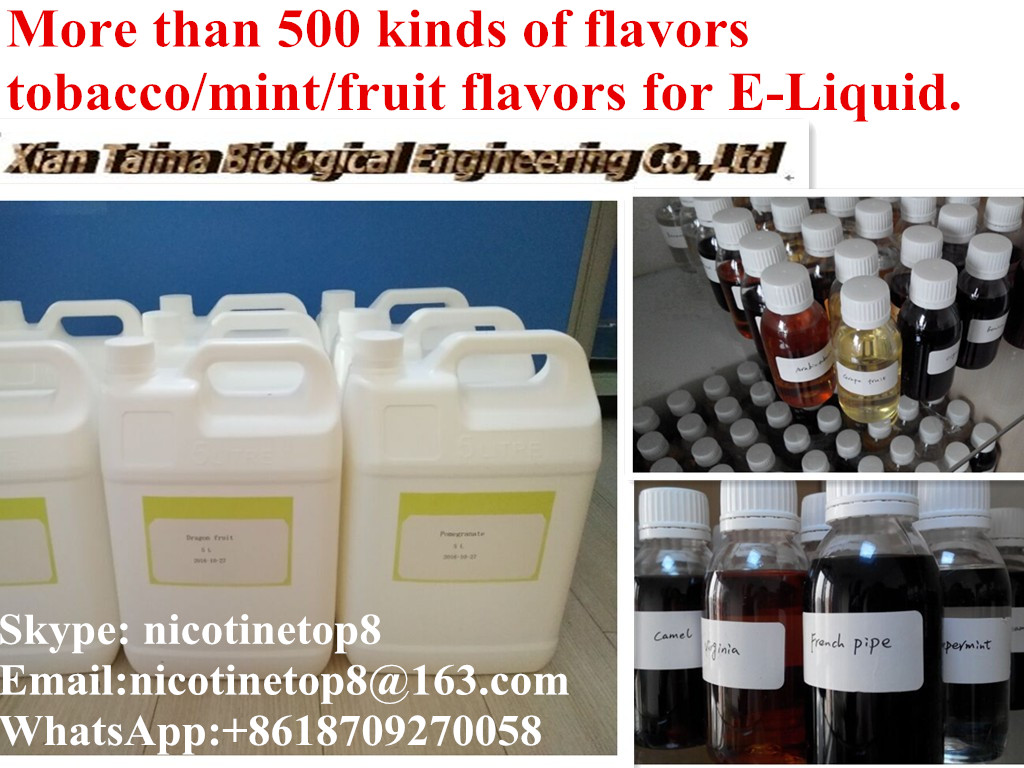 Usp grade pure nicotine and all kinds of Flavors for E-liquid