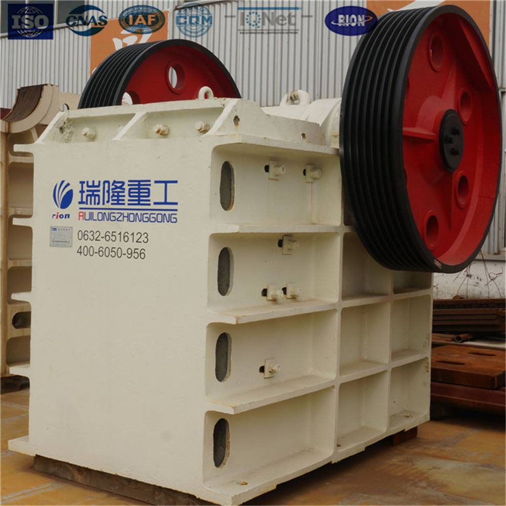 ISO hard rock crusher jaw crusher machine with casting structure