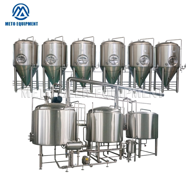 1000L new design beer brewing equipment with 3 vessels steam brewhouse and beer fermentation tanks