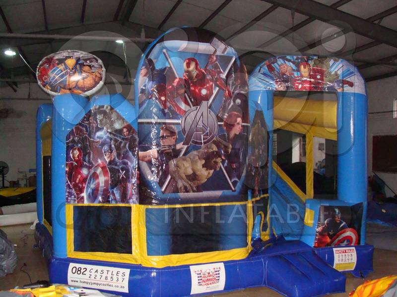 The Avengers inflatable moon bounce for kids