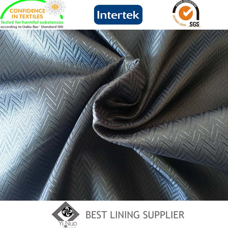 100 Polyester Mens Jacket Lining Fabric Mini-Jacquard Lining