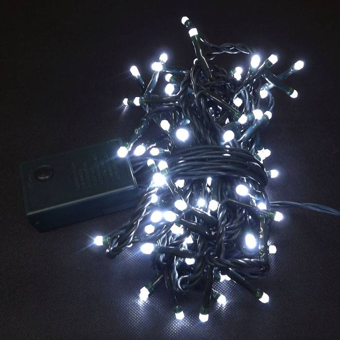 White LED String Lights for Decorations with 8 Functions Controller