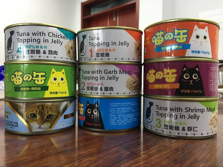 85g/100g/150/170g/tinned tuna & chicken & beef flavor canned pet food