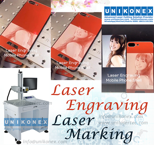 Phone laser engraving, laser marking on phone shell