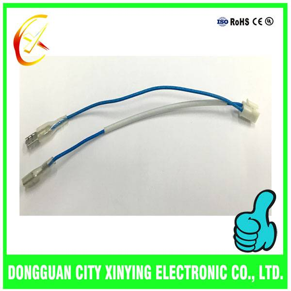 OEM custom made cold terminals cable assembly with transparent silica sleeve
