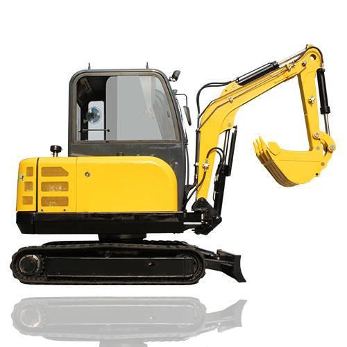 excavator and wheel loader