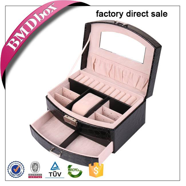 factory direct sale small quanity MOQ PU leather jewelry box