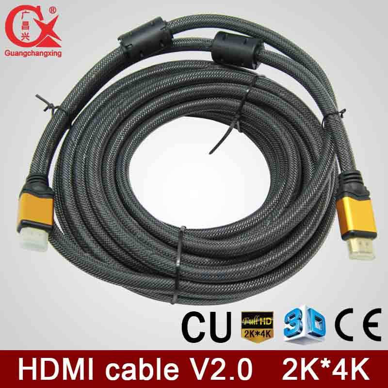 wholesale best price al alloy head silver color braided HDMI2.0v 1.5m copper material